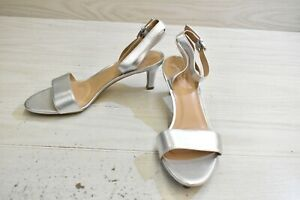 Naturalizer Tinda Leather Dress Sandals, Women's Size 9 N, Soft Silver NEW