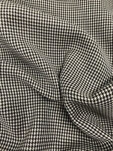 3.5 Metres Brown/Grey Melange 100% Wool Lightweight Houndstooth Fabric