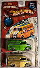 Hot Wheels 2006 Holiday Hot Rods Dairy Delivery set of 2 (1 Green/1 Gold)