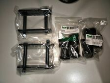 FORD FALCON REAR LEAF SPRING STEEL SHACKLES & RUBBER BUSHES .. PAIR .. NEW