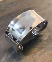 "7.25"", Vtg Sterling Silver Handmade Cuff, Meixco 925 Silver Bracelet, TB-166"