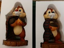 Disney Parks Christmas Nutcrackers Chip & Dale SET OF 2 NEW In Box