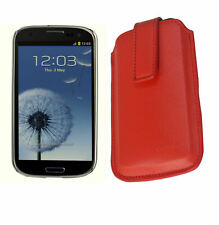 Croco® Samsung Galaxy S3 Pro-Tect PU Leather Slip Case Magnetic Pull Slide Red
