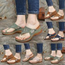 Womens Orthopedic Sandals Comfy Mules Summer Flip Flops Slippers Flat Shoes