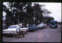 1970  Kodachrome photo slide Street Scene BUS Cars  Mexico