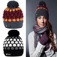 Women Ladies Beanie Hat Warm Winter Knitted Pom Pom Fashion Ski Hats