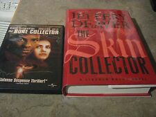 SKIN COLLECTOR JEFFERY DEAVER SIGN/DATE DAY REL W/BONE COLLLECTOR DVD BOTH SIGN
