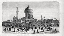 Stampa antica BAGDAD BAGHDAD veduta della Moschea Iraq 1905 Old Print