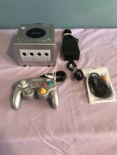 Nintendo Gamecube Console Platinum Silver System Bundle Controller Power Supply