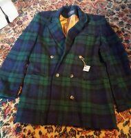 015 Womans Wool Blazer Jacket Kenneth Gordon New Orleans Size 8 Green Plaid