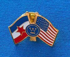 USA, United States - Yugoslavia flag friendship, Old vintage pin badge !