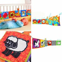 Soft Baby Cloth Book Early Educational Newborn Kids Learning Toys Bed Decoration