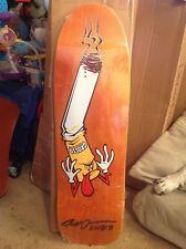 Signed Black Label Jeff Grosso Butthead Skateboard Deck Orange Stain New