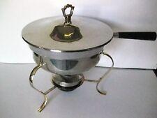Mid Century Modern Danish Chafing Dish Fondue Pot Warming Dish Atomic Vtg #Cc