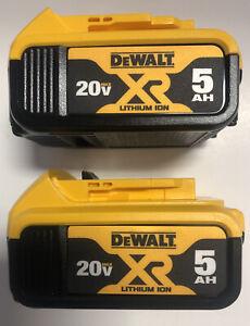 (2) NEW DeWALT DCB205 20V Volt MAX XR 5.0Ah Li-Ion Battery Packs 2020 DATE CODE