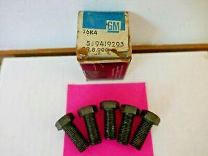 C1/C3 1953-75 CORVETTE/CHEVROLET NOS  FLYWHEEL BOLT KIT  (5 BOLTS) GM 9419293