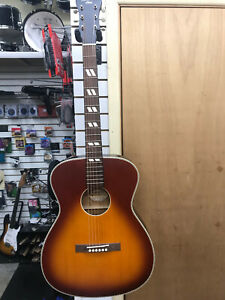 recording king ROC-TS- DIRTY37 acoustic guitar in tobacco sunburst