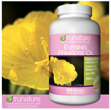 trunature Evening Primrose Oil 1000 mg. Omega-6 GLA, 200 Softgels