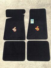 Carpeted Floor Mats - Small Grand National on Black