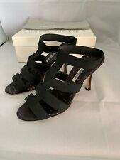 Manolo Blahnik Black Heels Sandals Size 38 gently used, $655 From S5A