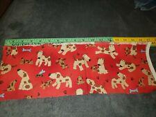 Airedale Terrier Dog Red Fabric Cartoon Labradoodle Puppies pups remnant