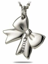 Stainless Steel Cheer Bow Necklace-Romans 8:31 Shields of Strength