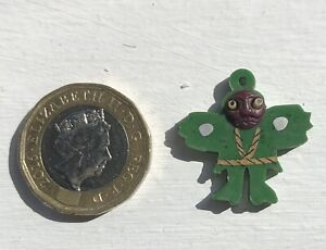 Original 1920's JAPANESE KOBE Celluloid Miniature Charm With Pop Out Eyes Superb