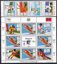 Paraguay 1989 Olympiade Olympic Lillehammer 1994 Mi. 4323-26, KB 4327 ** MNH