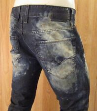NEW GUESS DIRTY DUST CLOUD WASH SLIM TAPERED LEG MEN JEANS SZ 32 X 33 VIC-THOR1
