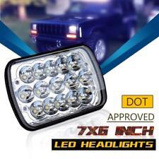 "DOT 7x6'' 5X7"" LED Projector Headlight Hi-Lo Beam DRL For Jeep Cherokee XJ Ford"
