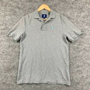 G-Star Mens Polo Shirt Size XS Slim Fit Grey Muscle Short Sleeve Collar 182.08