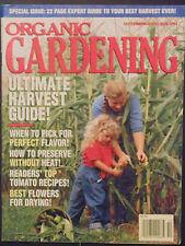 Organic Gardening Magazine September October 1994 harvest tomato recipies