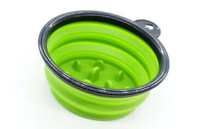 COLLAPSIBLE SILICONE TRAVEL SHAVING BOWL WITH AGITATORS - GREEN - BRAND NEW!