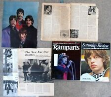 ROLLING STONES two magazines 1969-1970 and two BEATLES/STONES 1967-68 clippings