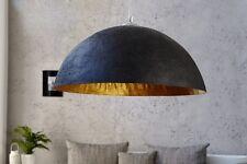 Lámpara Colgante de péndulo, Negro Oro Cuenco 70cm Antiguo techo