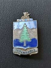 Sterling Silver Enamel WWII US Army 383rd Infantry Regiment DEPENDABLE Pin MEYER