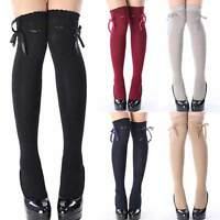 Women Girls Ladies Over The Knee Socks Thigh High Long Cotton Stockings Leggings