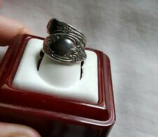 WMA Rogers Oneida Floral Spoon Silver Ring - Size 4