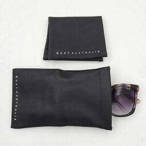 Quay Australia Magnetic Pouch for Sunglasses Eyeglasses Soft Case Black