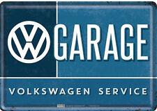 Nostalgic Art Blechpostkarte VW Garage Volkswagen Service Werkstatt 10 x 14 *