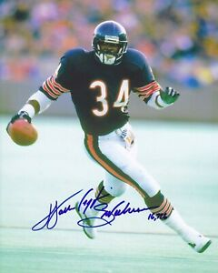 Reprint Walter Payton Autographed Chicago Bears 8X10 PHOTO Man Cave BAR DECOR
