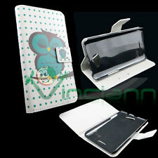Custodia GUFO VERDE per HTC Desire 516 cover BOOKLET case STAND UP libretto
