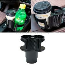 Car Dual Cup Holder Center Console Carbon Fiber Look Water Bottle Drink Holder