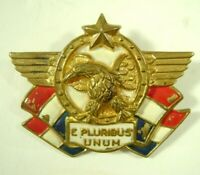 WWII Patriotic Pin Enamel Brooch Accessocraft Kay Dunhill USA Home Front Eagle
