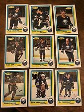 1986-87 O-Pee-Chee  BUFFALO SABRES 14  card team set