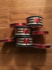 New listing Celebrate It. Lit Of 7 Rolls Of New Ribbon Red Black White. Sparkle Hearts