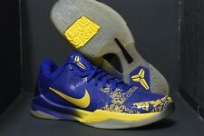 Promo Nike Zoom Kobe V 5 Rings Ceremony sz 8 Purple Yellow 386429-702 MVP