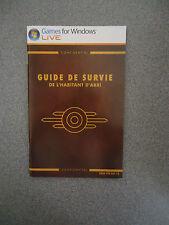 Fallout 3 Vault Dweller's Survival Guide Booklet  - Guide De Survie - French  PC