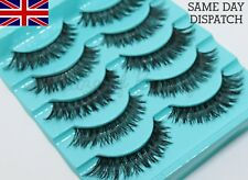 5 Pairs Black DEMI WISPIES False Eyelashes WSP LONG THICK STRIP VOLUME LASHES