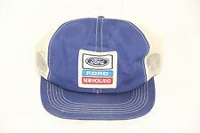 Vintage RARE Ford New Holland Patch Trucker Mesh Snapback Cap/Hat Pre-owned
